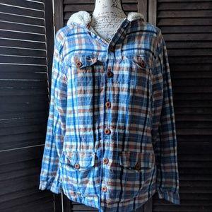 Ace & Jig Plaid Linen-Blend Jacket-S